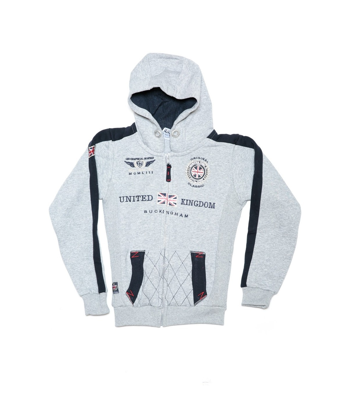 Sweat Enfant Geographical Norway Gastaldo Gris Clair