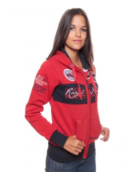 Sweat Femme Geographical Norway Flyer Rouge