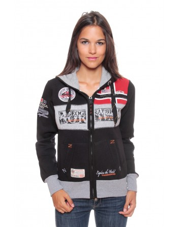 Sweat Femme Geographical Norway Flyer Noir