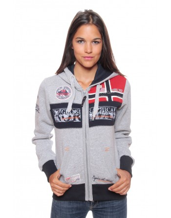 Sweat Femme Geographical Norway Flyer Gris Clair