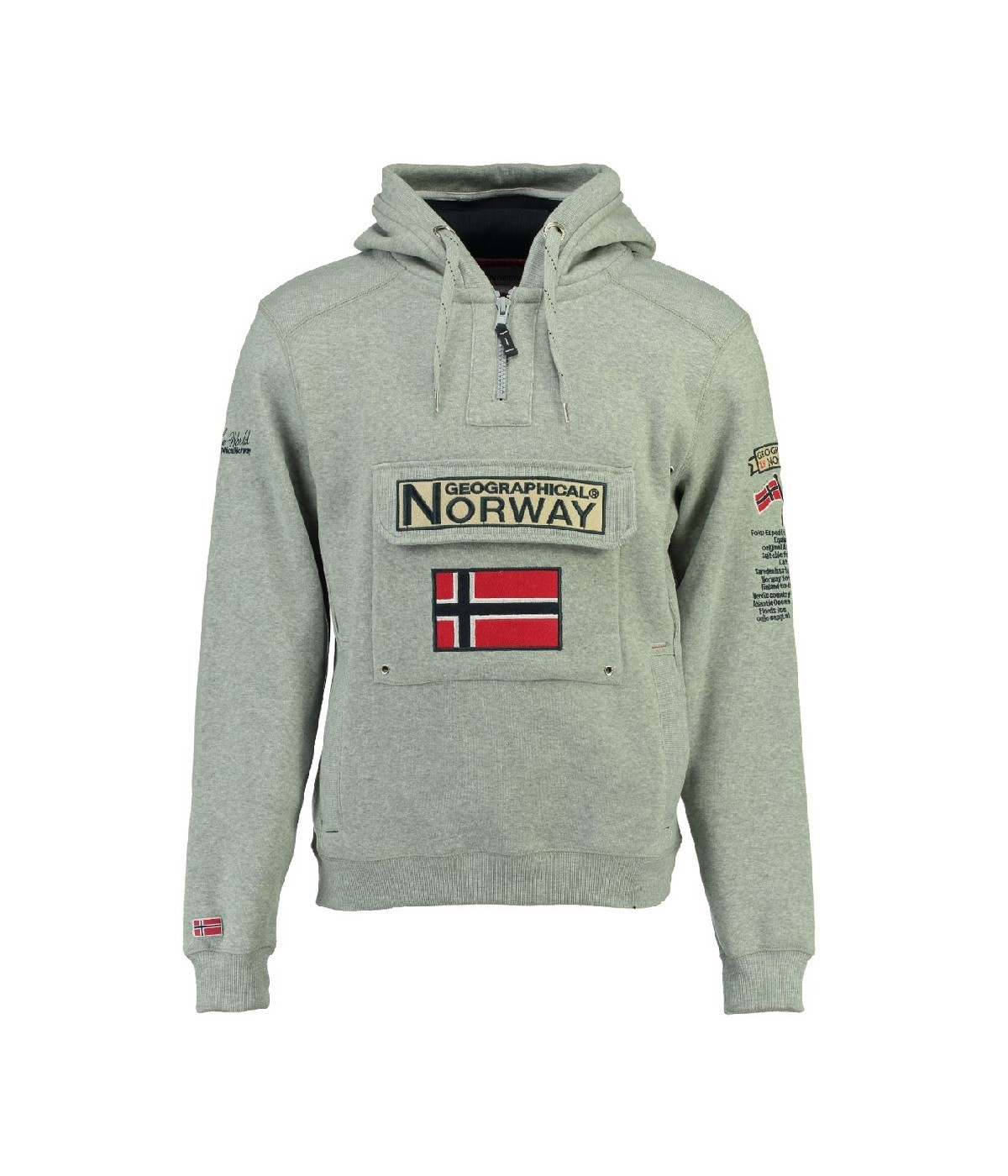 Sweat Geographical Norway Gymclass Gris Clair
