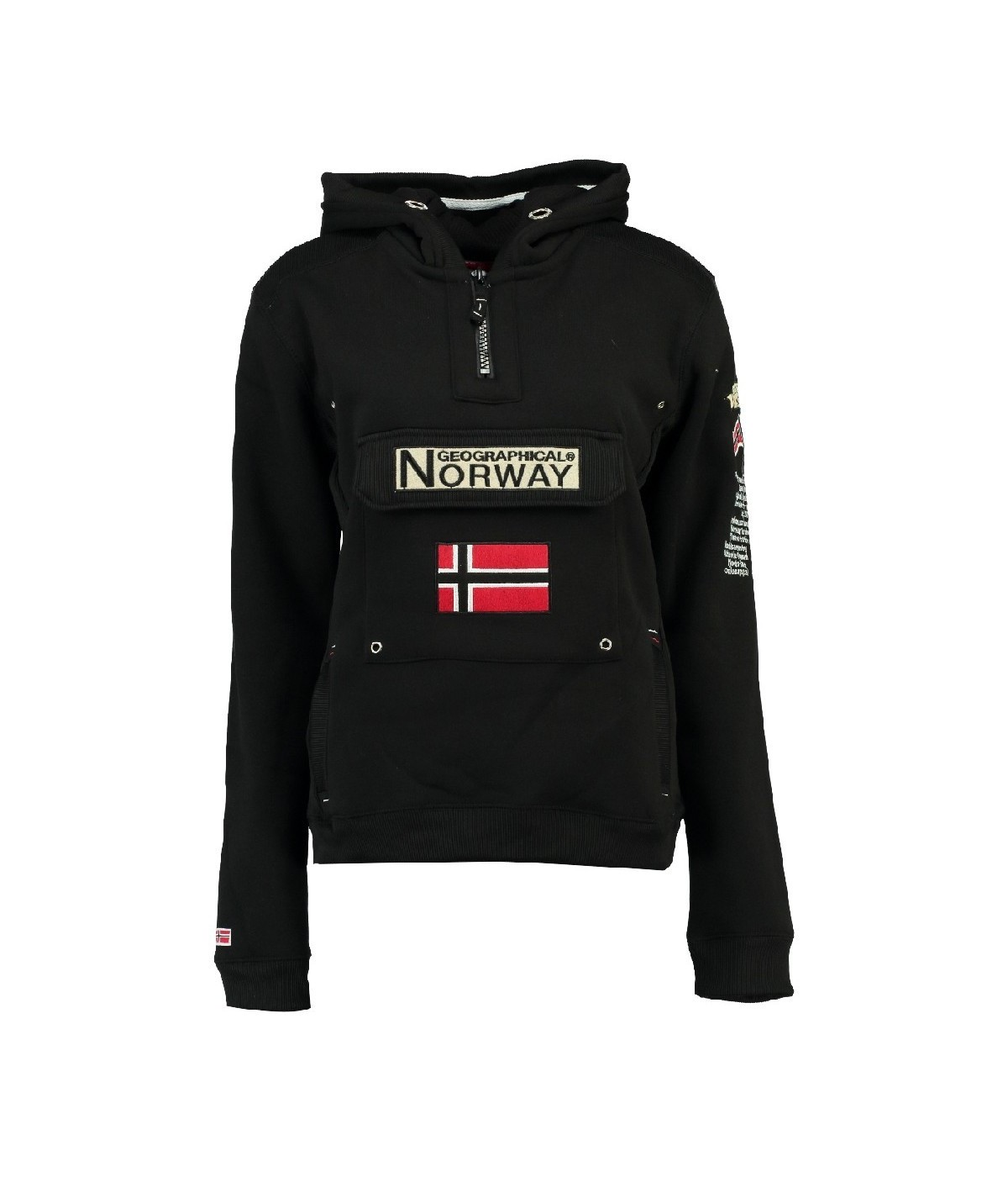 Sweat Geographical Norway Gymclass Noir