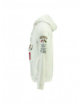 Sweat Geographical Norway Gymclass Blanc