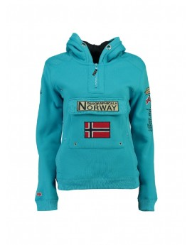 Sweat Geographical Norway Gymclass Turquoise