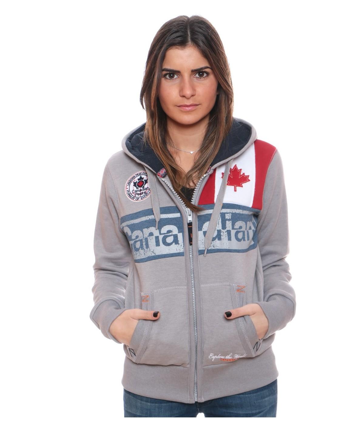 Sweat Femme Canadian Peak Flashy Gris Clair
