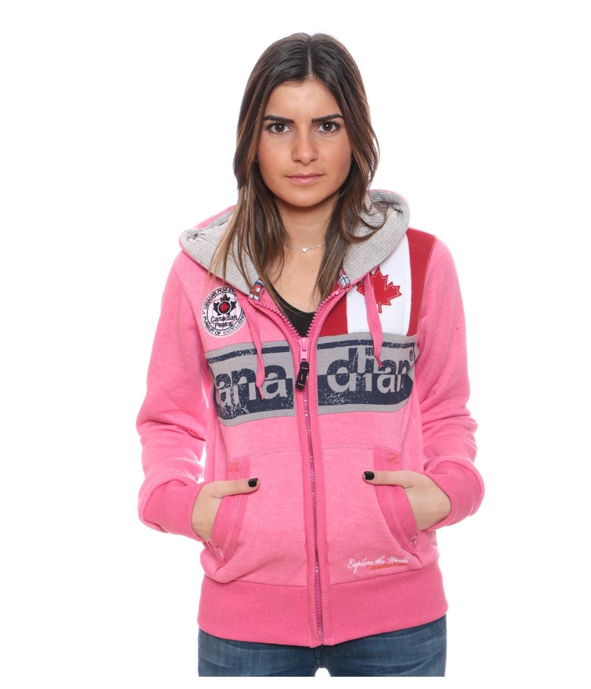 Sweat Femme Canadian Peak Flashy Rose