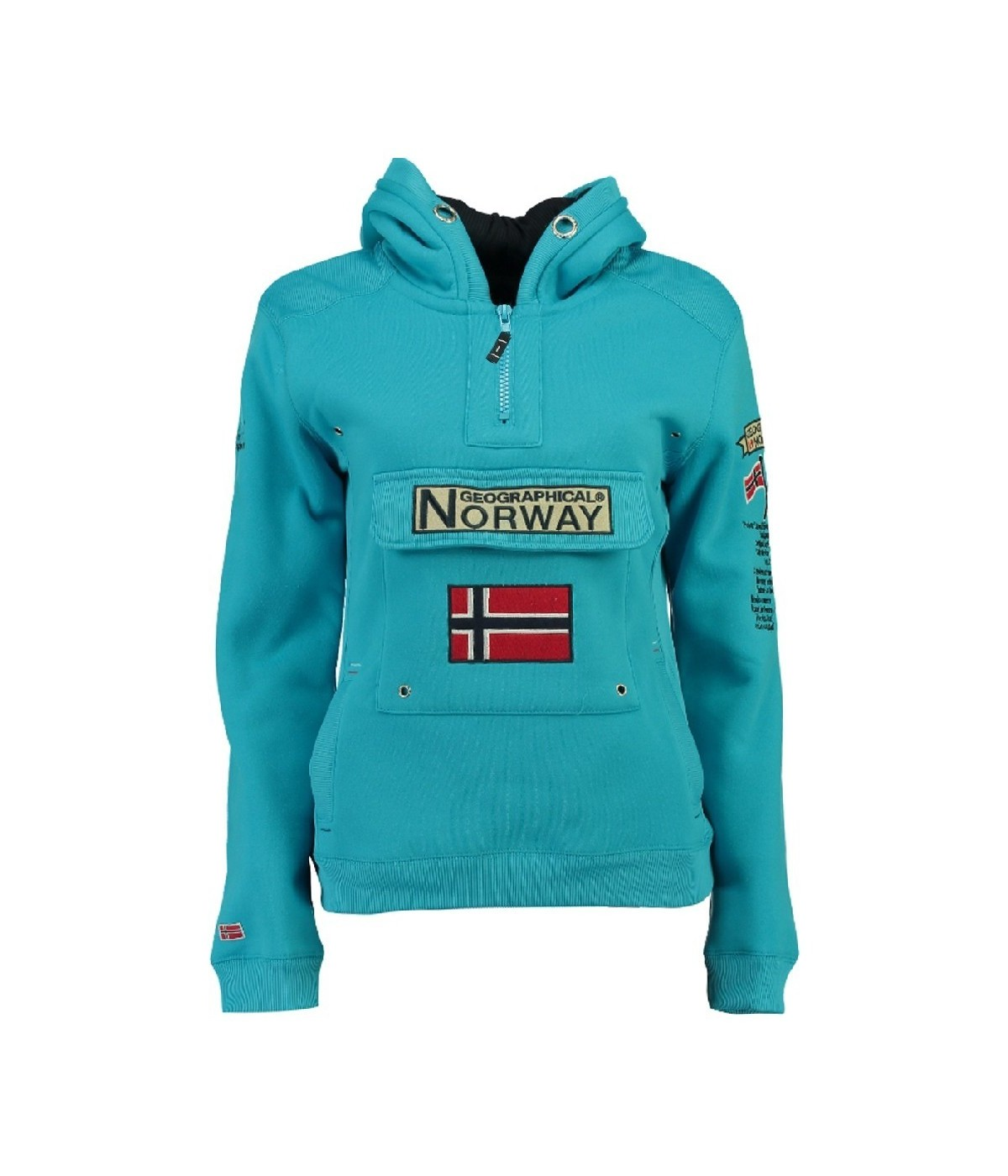 Sweat Enfant Geographical Norway Gymclass Turquoise