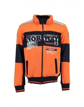 Sweat Enfant Geographical Norway Gavrilos Orange