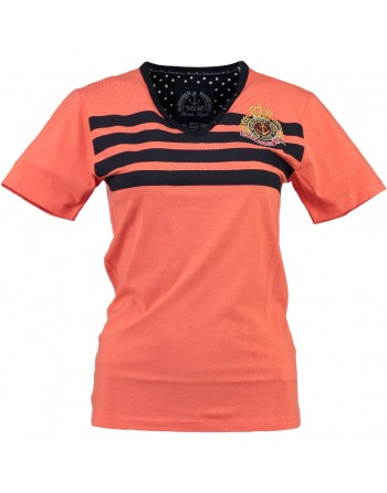 Tshirt Femme Geographical Norway Jolor Corail