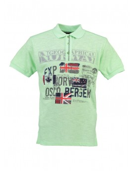Polo Enfant Geographical Norway Kemporio Vert