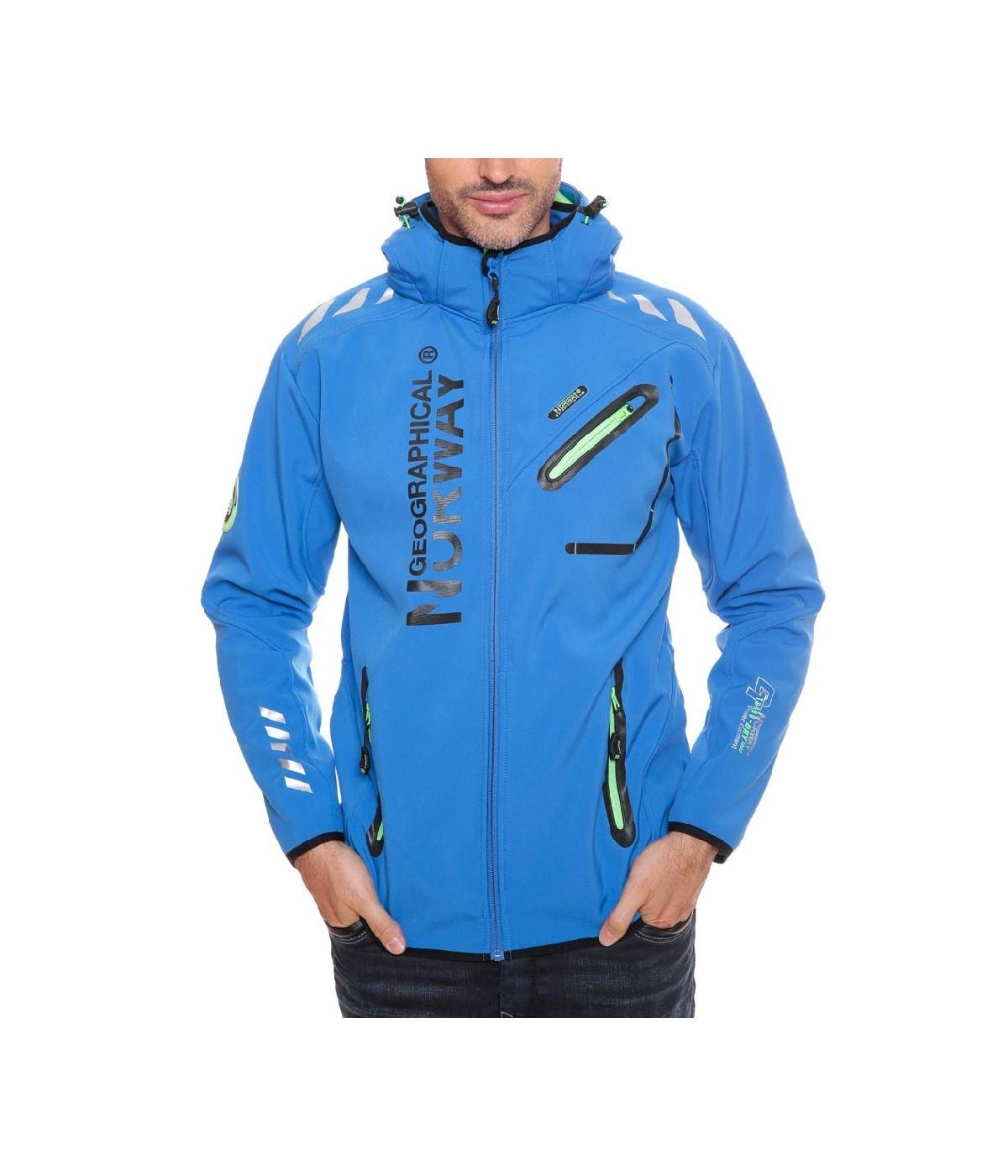 Softshell Geographical Norway Rainman Bleu