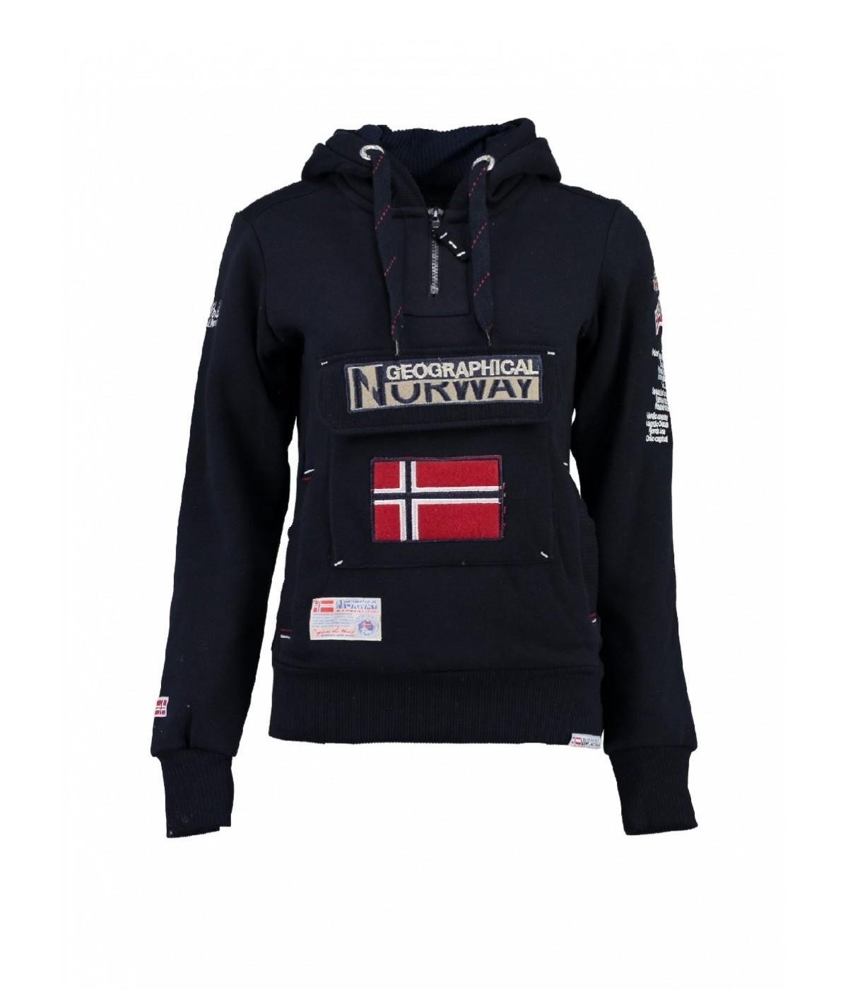 Sweat Femme Geographical Norway Gymclass Marine