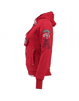 Sweat Femme Geographical Norway Gymclass Rouge