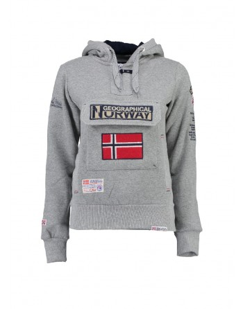 Sweat Femme Geographical Norway Gymclass Gris Clair