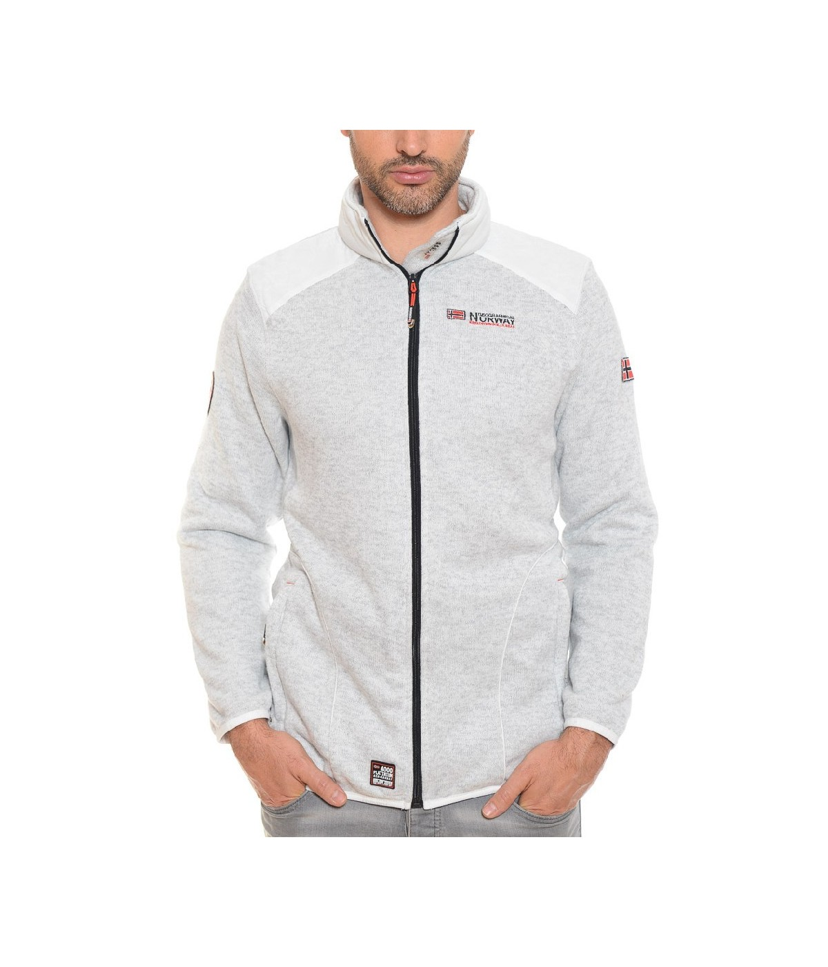 Polaire Homme Geographical Norway Tuteur Blanc