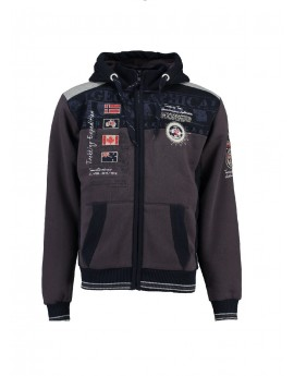 Sweat à capuche Homme Geographical Norway Geday Gris
