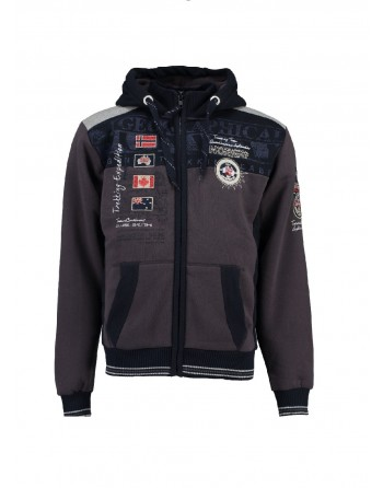 Sweat àcapuche Homme Geographical Norway Geday Gris