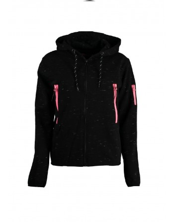 Sweat àcapuche Femme Geographical Norway Fashionista Noir