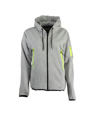 Sweat àcapuche Femme Geographical Norway Fashionista Gris Clair