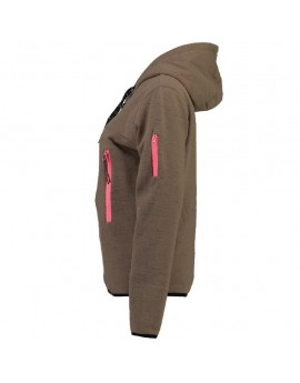 Sweat à capuche Femme Geographical Norway Fashionista Taupe