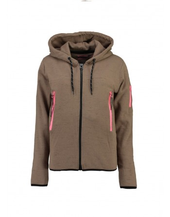 Sweat àcapuche Femme Geographical Norway Fashionista Taupe
