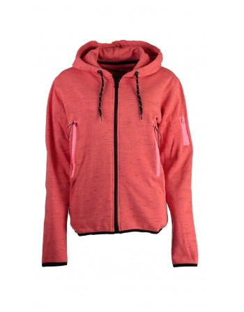 Sweat àcapuche Femme Geographical Norway Fashionista Corail