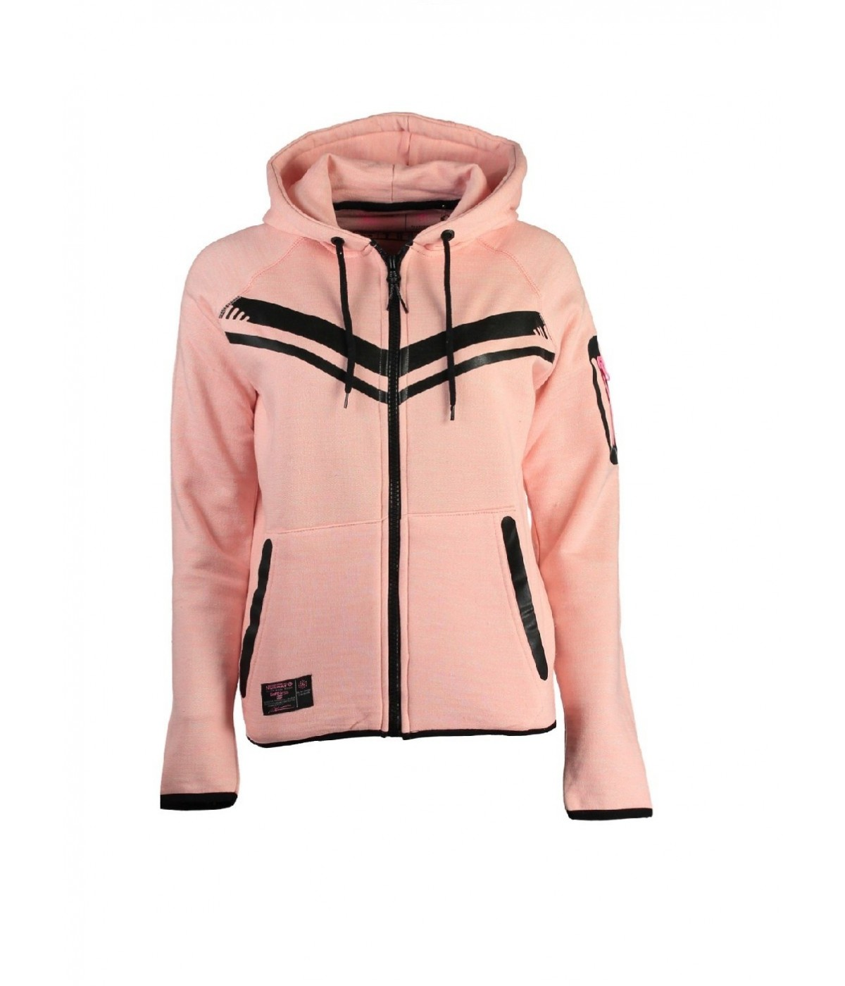 Sweat à capuche Femme Geographical Norway Fluence Rose
