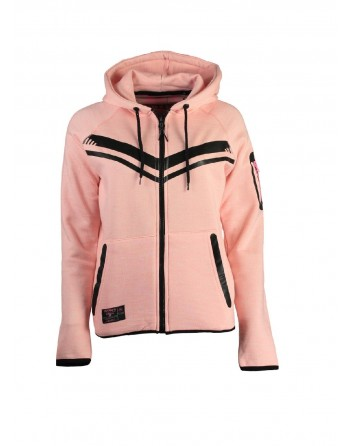 Sweat àcapuche Femme Geographical Norway Fluence Rose
