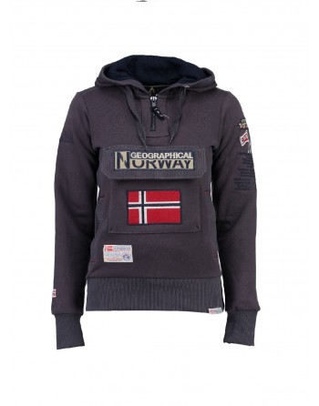 Sweat àcapuche Femme Geographical Norway Gymclass Gris