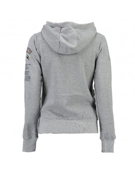 Sweat à capuche Femme Geographical Norway Gymclass Gris Clair