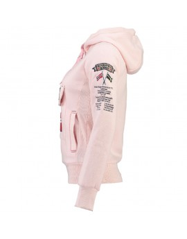 Sweat à capuche Femme Geographical Norway Gymclass Rose Clair