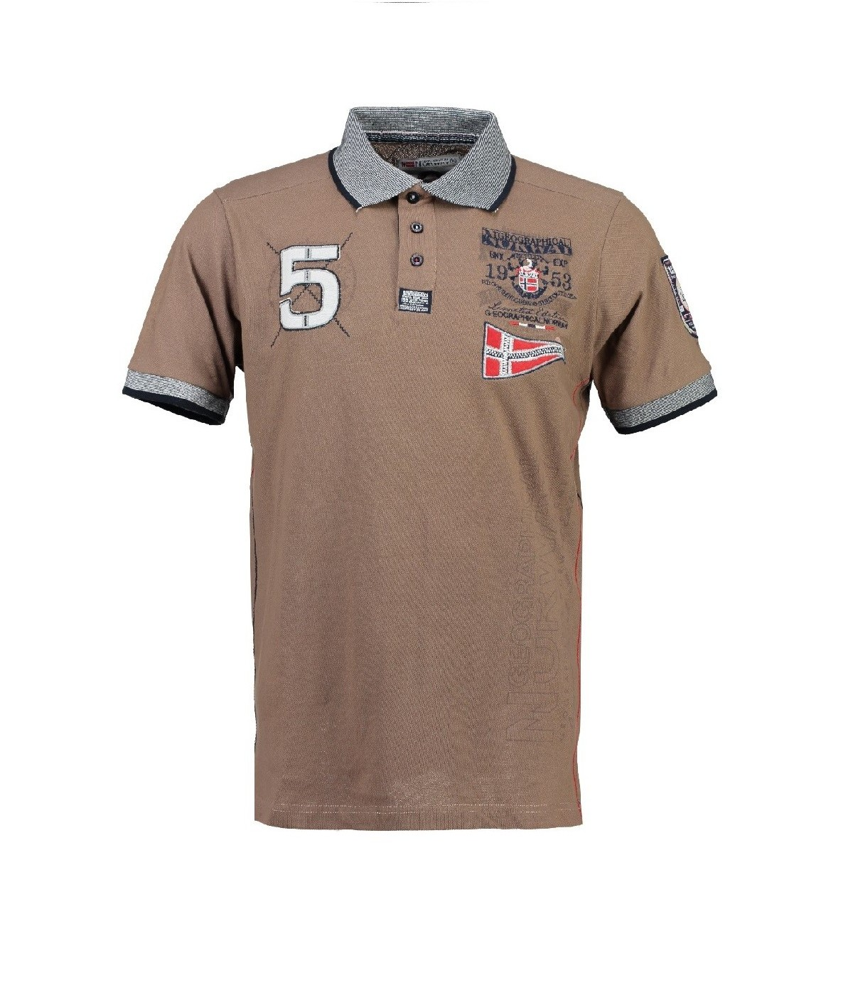 Polo Homme Geographical Norway Kantibe Taupe