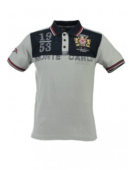 Polo Homme Geographical Norway Kavalere Gris Clair