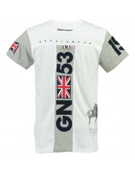 T-shirt Homme Geographical Norway Jingston Blanc
