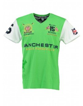 T-shirt Homme Geographical Norway Jingston Vert