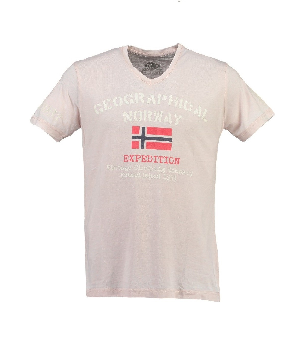T-shirt Homme Geographical Norway Jaudace Gris Clair
