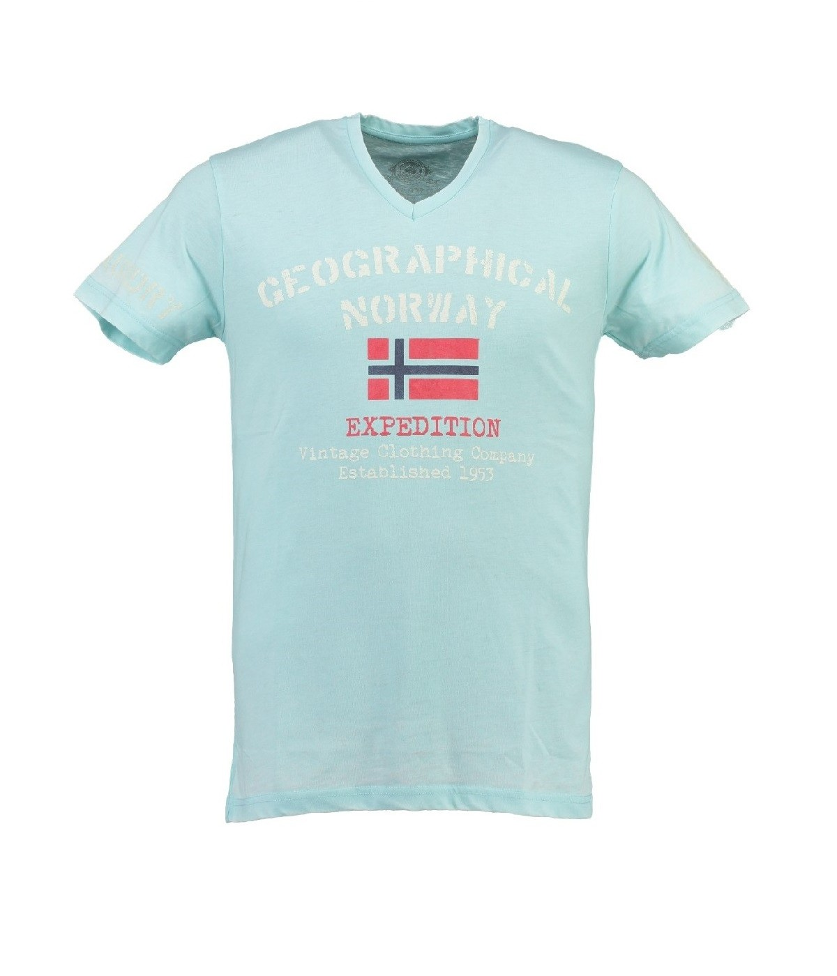 T-shirt Homme Geographical Norway Jaudace Bleu