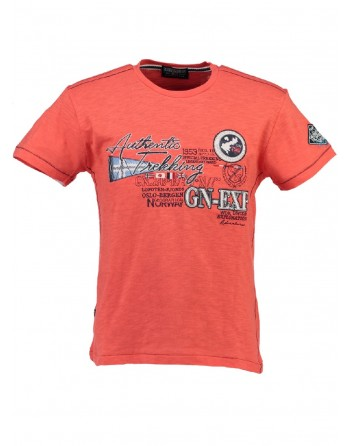 T-shirt Homme Geographical Norway Jerusalem Corail