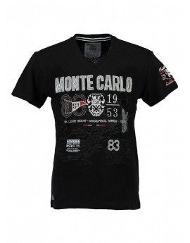 T-shirt Homme Geographical Norway Jerell Noir