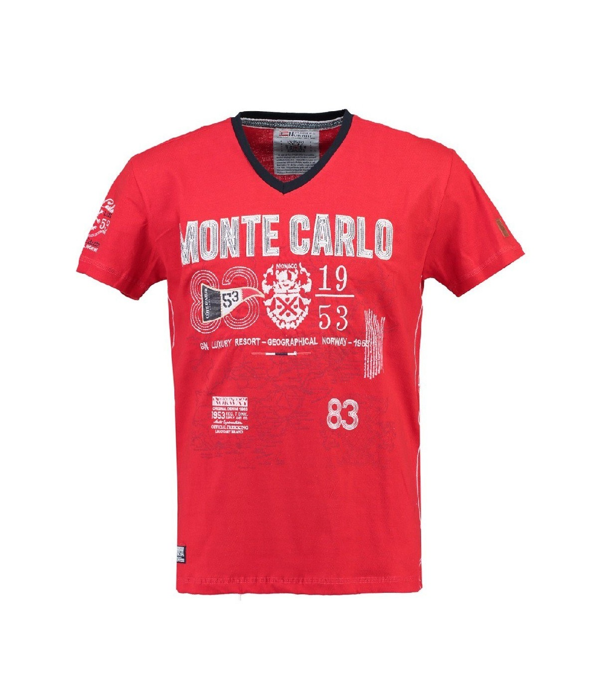 T-shirt Homme Geographical Norway Jeliroubia Rouge