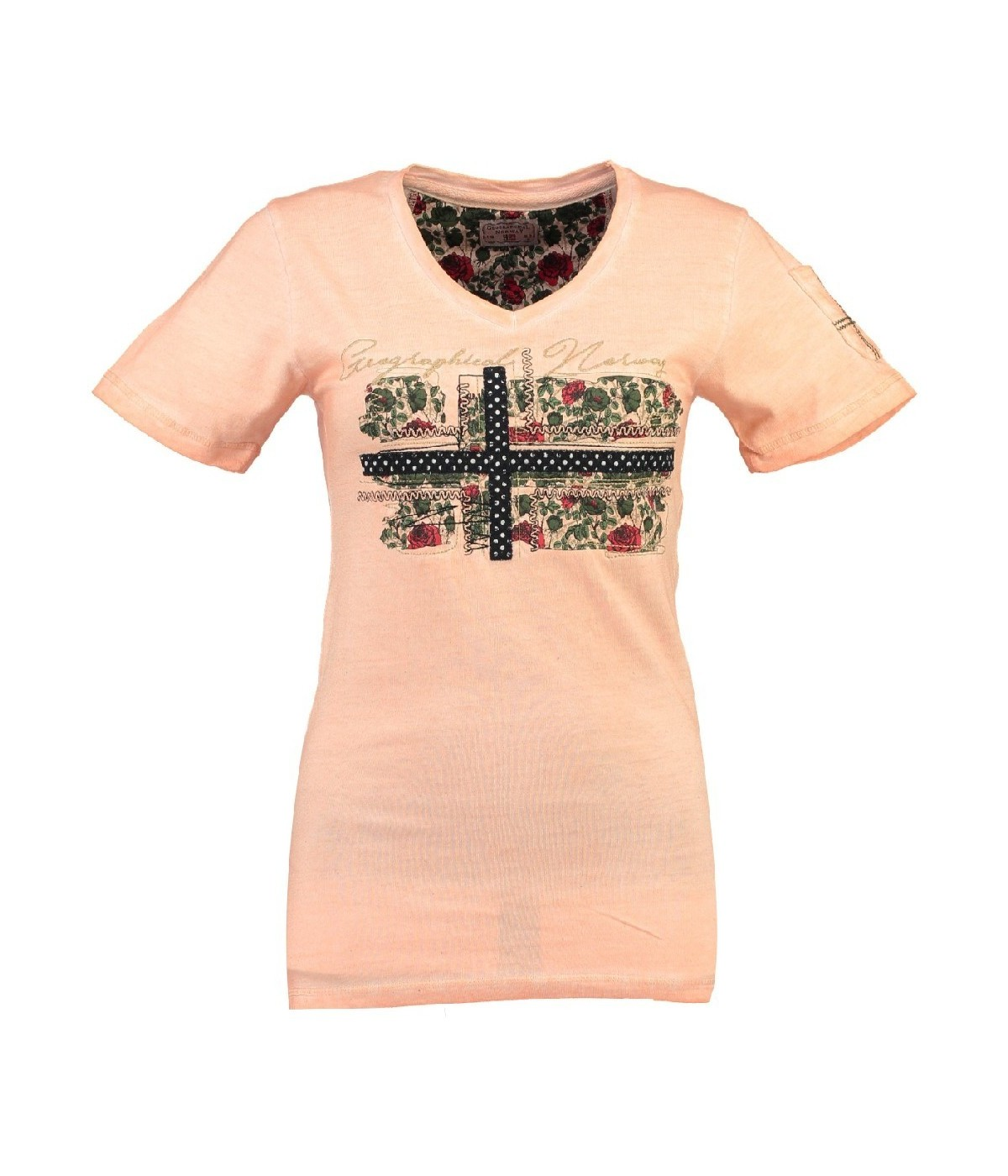 T-shirt Femme Geographical Norway Jbeautà© Corail