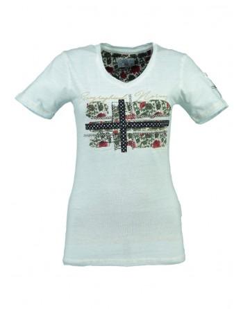 T-shirt Femme Geographical Norway Jbeauté Bleu