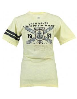T-shirt Femme Geographical Norway Jrose Jaune
