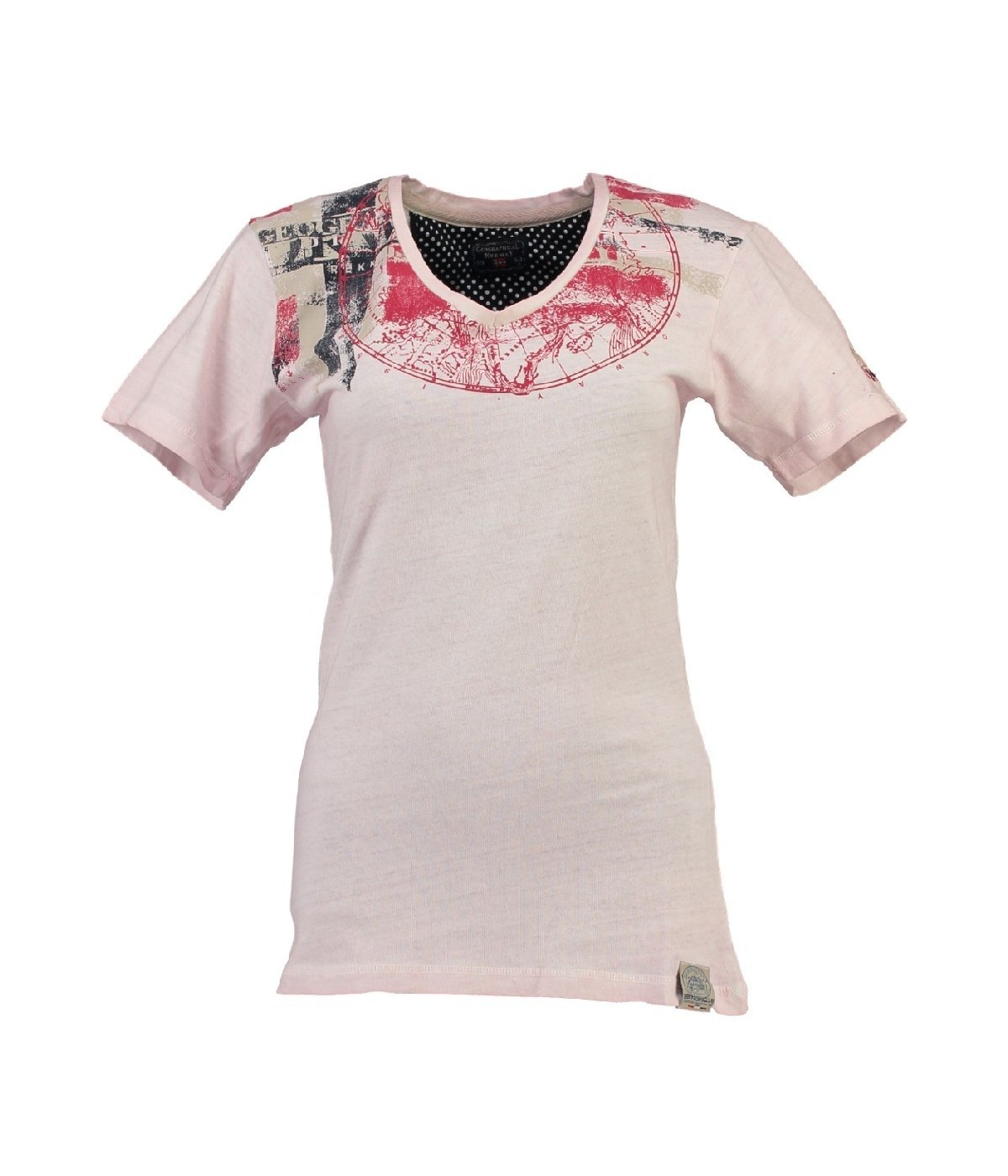T-shirt Femme Geographical Norway Jasmine Rose