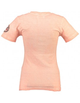 T-shirt Femme Geographical Norway Jody Corail