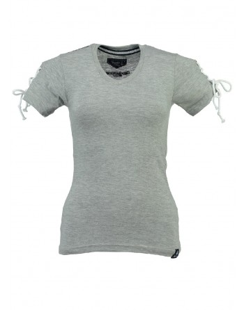 T-shirt Femme Geographical Norway Jeline Gris