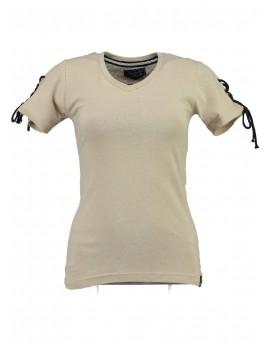 T-shirt Femme Geographical Norway Jeline Blanc cassà©