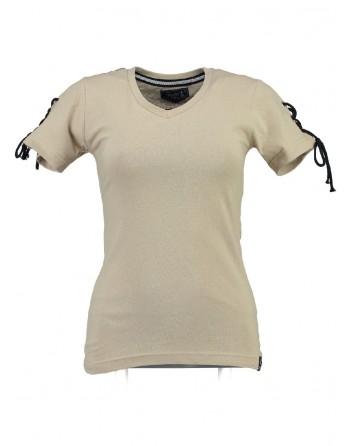 T-shirt Femme Geographical Norway Jeline Blanc cassé