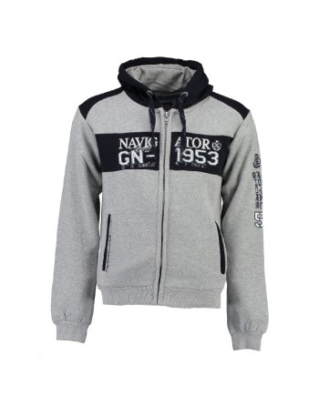 Sweat àcapuche Enfant Geographical Norway Glapping Gris