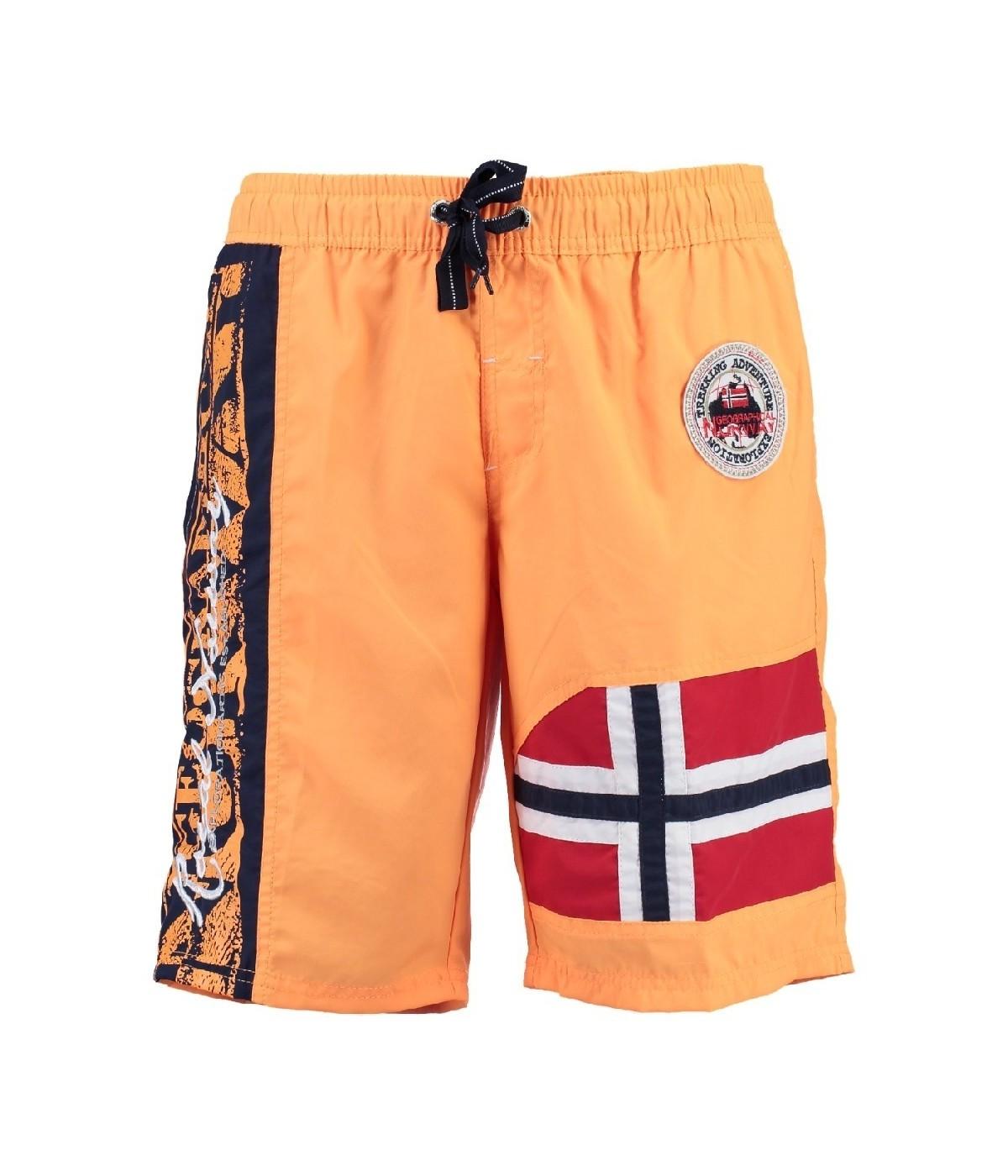 Maillot de Bain Garà§on Geographical Norway Quemen Orange